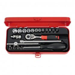 1/4 sada nástrčných klíčů s ráčnou Holex 630267 + kufřík, záruka