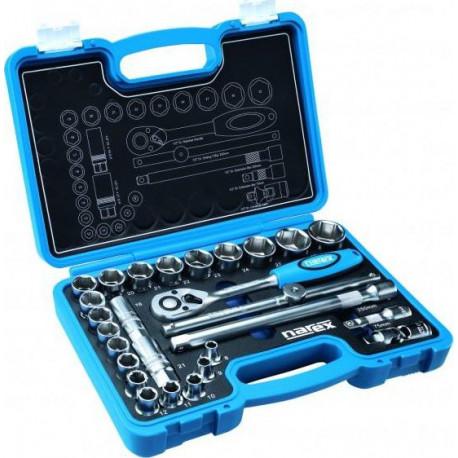 27 ks NAREX Gola sada nástrčných klíčů s ráčnou + kufr (443 000 904), nová